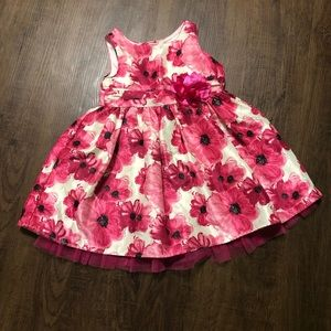 EASTER Dress Gorgeous pink and white Size 4T EUC